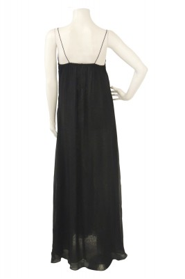 BLACK B.W STRAP DRESS