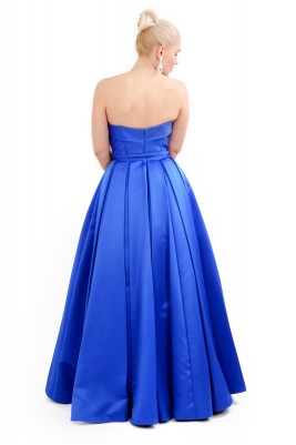 PERSNIP NAVY BLUE PLITTED GOWN