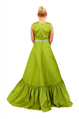 ANTUNES GREEN BROCHETTE GOWN