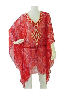SNAKEY RED Silk